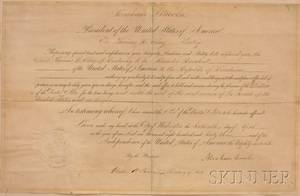 Abraham Lincoln Signed April 16 1863 Presidential Appointment