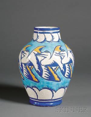 Boch Freres Art Deco Pottery Vase