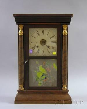 Mahogany Shelf Clock by Waterbury Clock Company