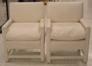 Pair of Contemporary Upholstered Armchairs