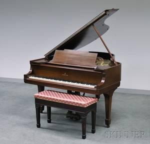 Steinway  Sons Mahogany Baby Grand Piano