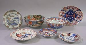 Seven Pieces of Imari Porcelain