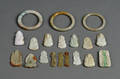 Nineteen Carved Jade Pendants and Other Items