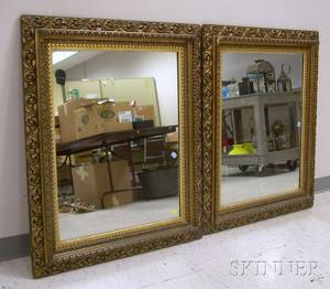 Pair of Victorian Baroquestyle Giltgesso Mirrors