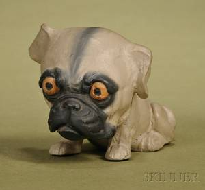 German Papiermache Bulldog Candy Container