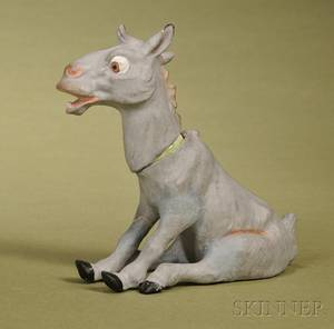 German Papiermache Donkey Candy Container