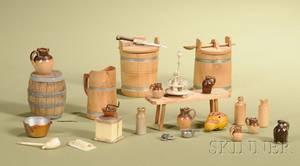 Twentyfour Assorted Miniature Antique and Vintage Kitchenwares
