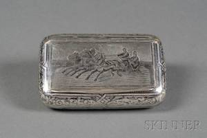 Russian Silver and Niello Snuff Box