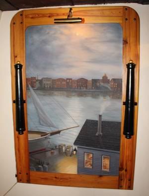 Bill Barnes Sailing Ship Dock Painting