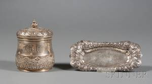 Two Tiffany  Co Sterling Dresser Articles