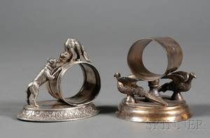 Two American Victorian Silverplate Napkin Rings