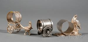 Three American Victorian Silverplate Napkin Rings