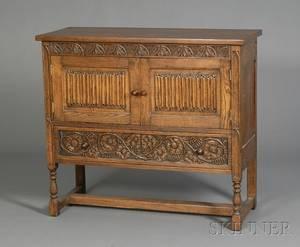 Jacobeanstyle Oak Side Cabinet