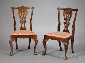Pair of Mid Georgian Mahogany Side Chairs