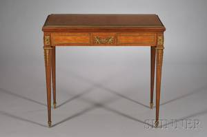 Louis XVI Style Ormolumounted and Parquetryinlaid Tulipwood Game Table