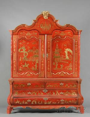 Realized price for a japanned cabinet for Dutch baroque architecture