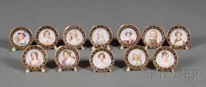 Set of Twelve Dresden Porcelain Place Card Holders