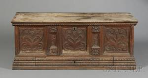 Jacobean Carved Walnut Blanket Chest