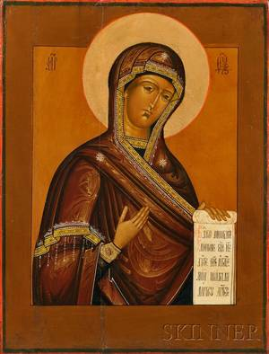 Icon Deisis Mother of God Icon