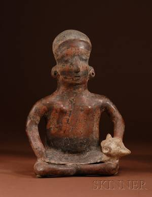 PreColumbian Painted Pottery Figure
