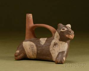 PreColumbian Polychrome Pottery Dog