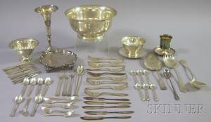 Group of Silver Plated and Sterling Silver Items
