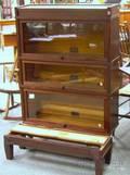 GlobeWernicke Mahogany and Mahoganyfinished ThreeStack Barristers Bookcase