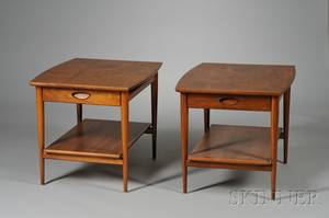 Pair of Paine Furniture Walnut End Tables