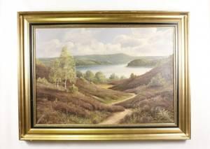 Danish Mountain Landscape Oil 19th20th C
