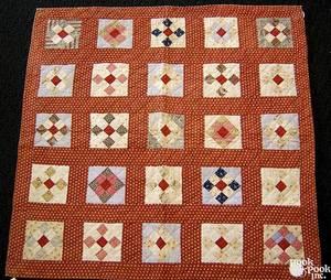 Pennsylvania patchwork crib quilt ca 1900