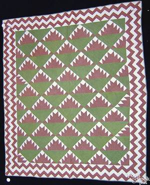 Pennsylvania patchwork quilt early 20th c