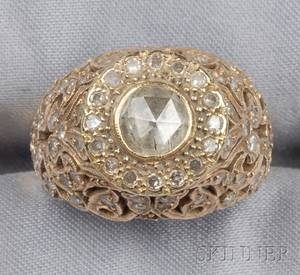 14kt Gold and Rosecut Diamond Ring