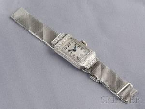 Art Deco Platinum and Diamond Wristwatch Tiffany  Co