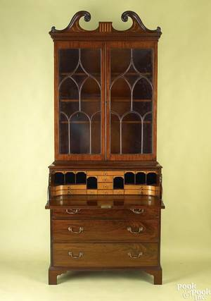 Virginia Chippendale mahogany secretary desk