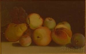 Framed Oil on Board Still Life with Fruit
