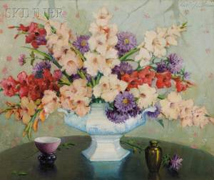 Carle John Blenner American 18621952 Mixed Glads and Asters