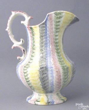 Fivecolor rainbow spatter pitcher