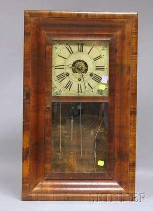 Mahogany Ogee Shelf Clock by Forestville Mfg Company