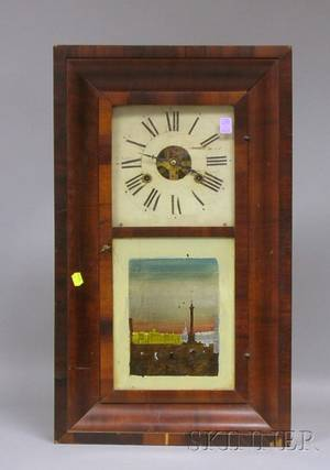Mahogany Ogee Shelf Clock by George Marsh