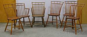 Assembled Set of Six Windsor Birdcage Chairs