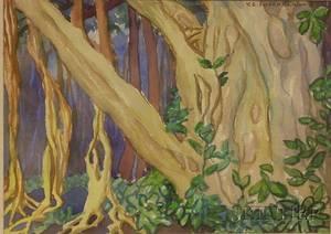 Yngve Edward Soderberg American 18961971 Banyan Tree