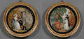 Chinese Export 19th Century Two Reverse Paintings on Glass