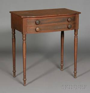 Federal Cherry Carved and Mahogany Veneer Dressing Table