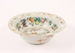 19th C Chinese Large Famille Rose Bowl