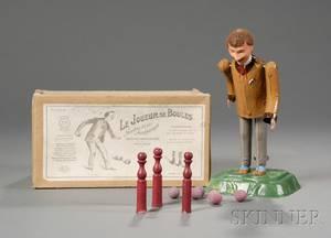 Martin Le Joueur De Boules Painted Tin Bowler Toy in Original Box