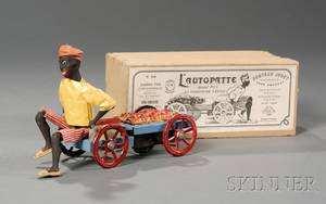 Martin LAUTOPATTE Tin Windup Black Fruit Vender Toy in Original Box
