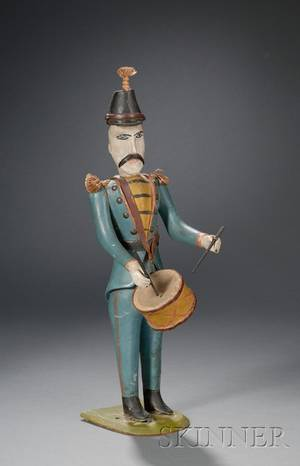 Folk Art Carved and Painted Wooden Soldier