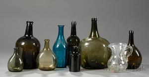 Ten Assorted Glass Items