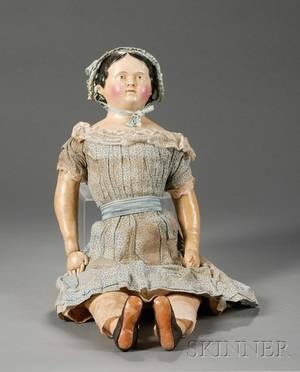 Large Papiermache Child Doll