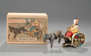 Lehmann Balky Mule Lithographed Tin Toy in Original Box